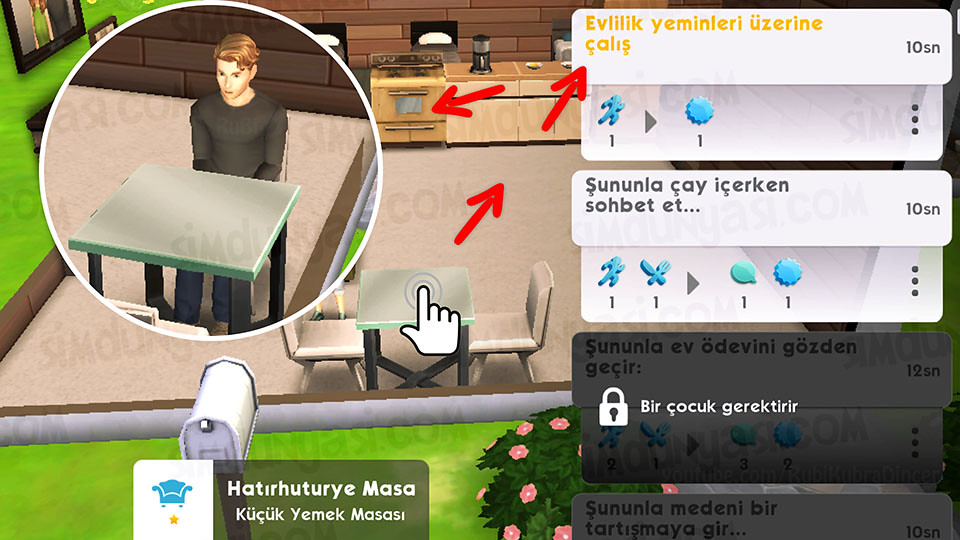 The Sims Mobile Evlenmek - Düğün Serüveni - Evlilik Yeminleri Üzerine Çalış