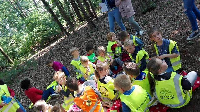 Leerlingen organiseren een bosspel