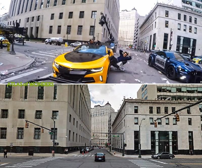 Transformers dando por Detroit