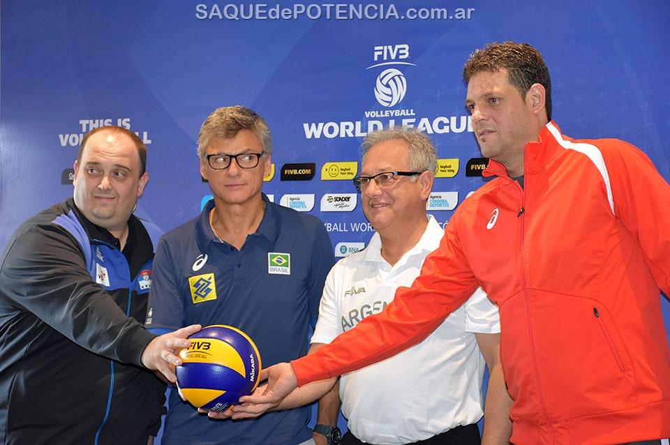 Entrenadores de Serbia, Brasil, Argentina y Bulgaria