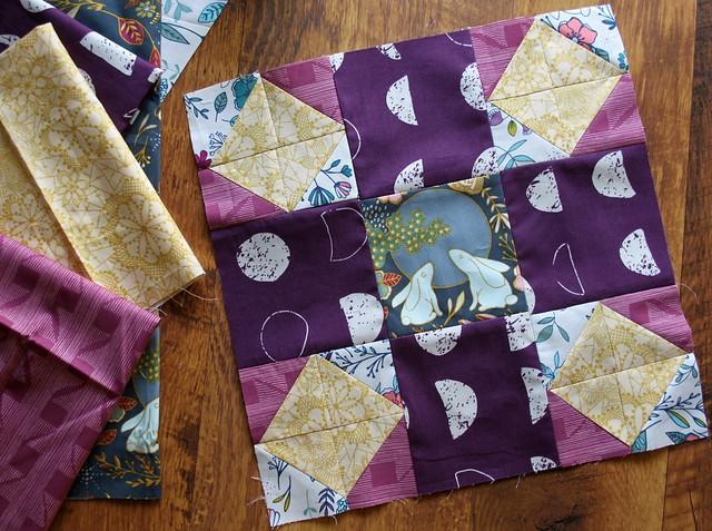 Week 17 block & fabrics