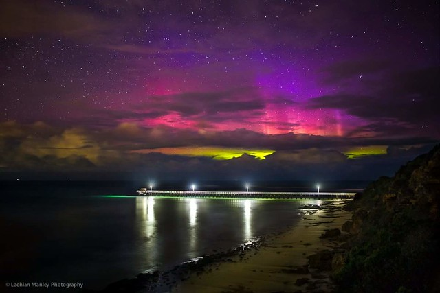 Aurora Australis in Port Phillip Heads