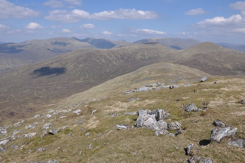 Ben Alder range and Sgor Gaibhre (right)