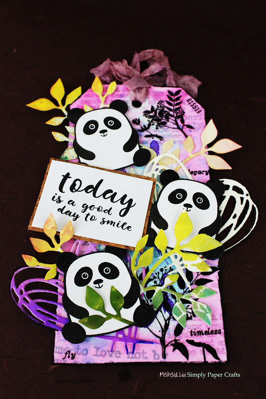 Meihsia Liu Simply Paper Crafts Mixed Media Tag Critters Panda Simon Says Stamp 2