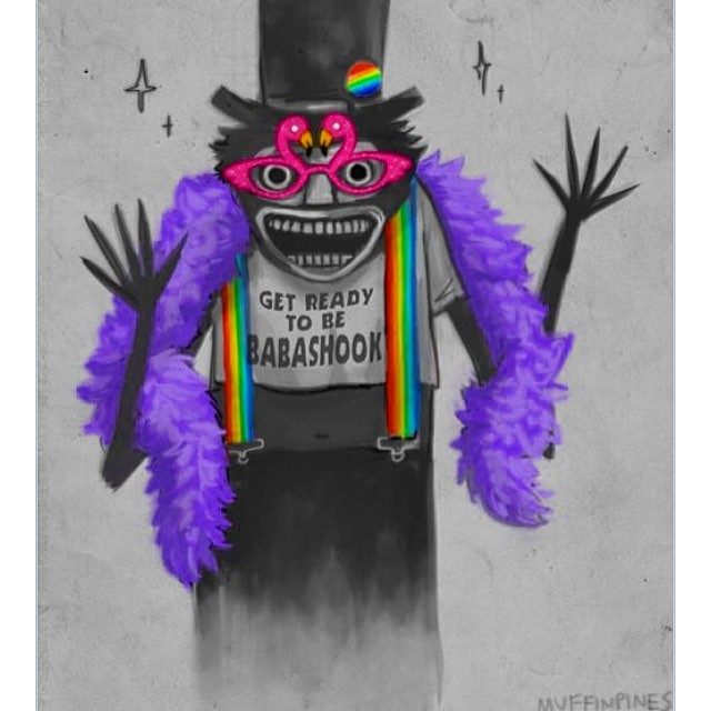 This gay Babadook stuff is hilarious. And that movie genuinely scared me!