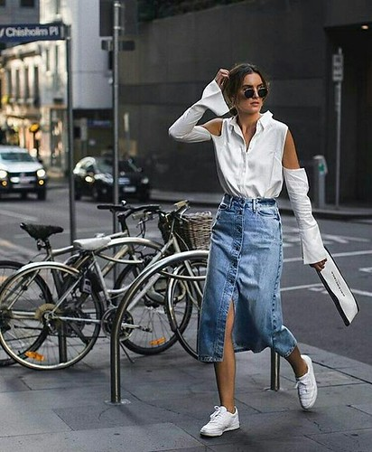 saia midi jeans 20