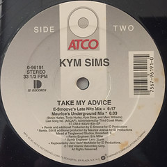 KYM SIMS:TAKE MY ADVICE(LABEL SIDE-B)
