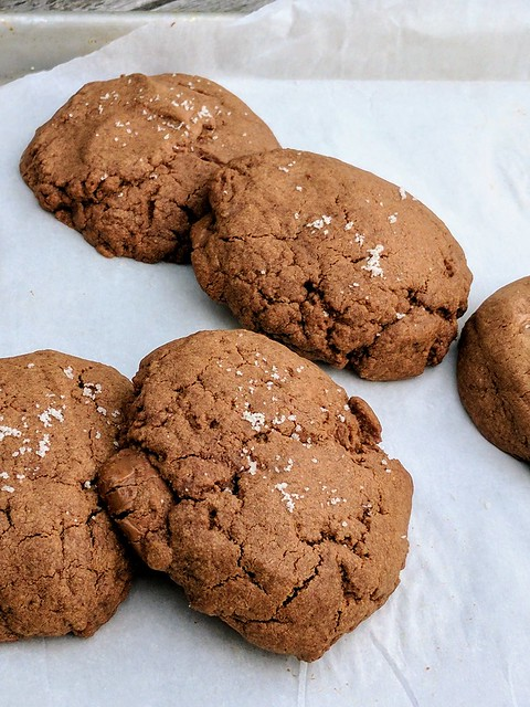 Salted Chocolate and Almond Butter Cookies
