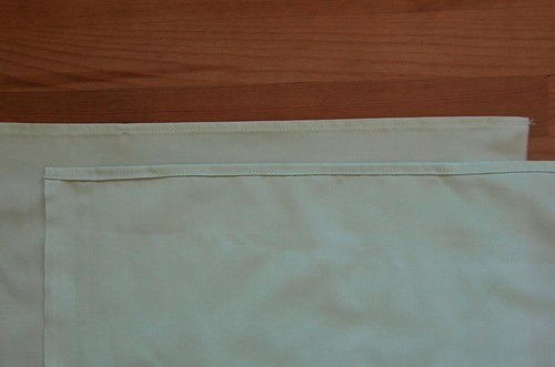 5. Sew the double-folded hems.