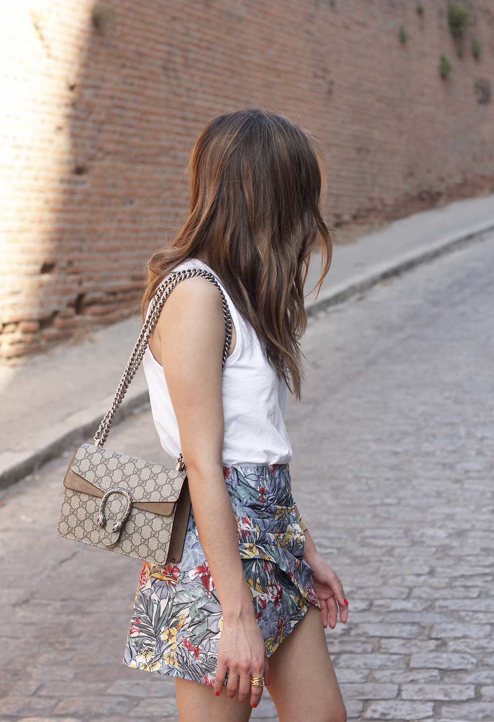 Tropical Skirt gucci bag superga outfit style summer13