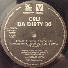 CRU:DA DIRTY 30(LABEL SIDE-D)