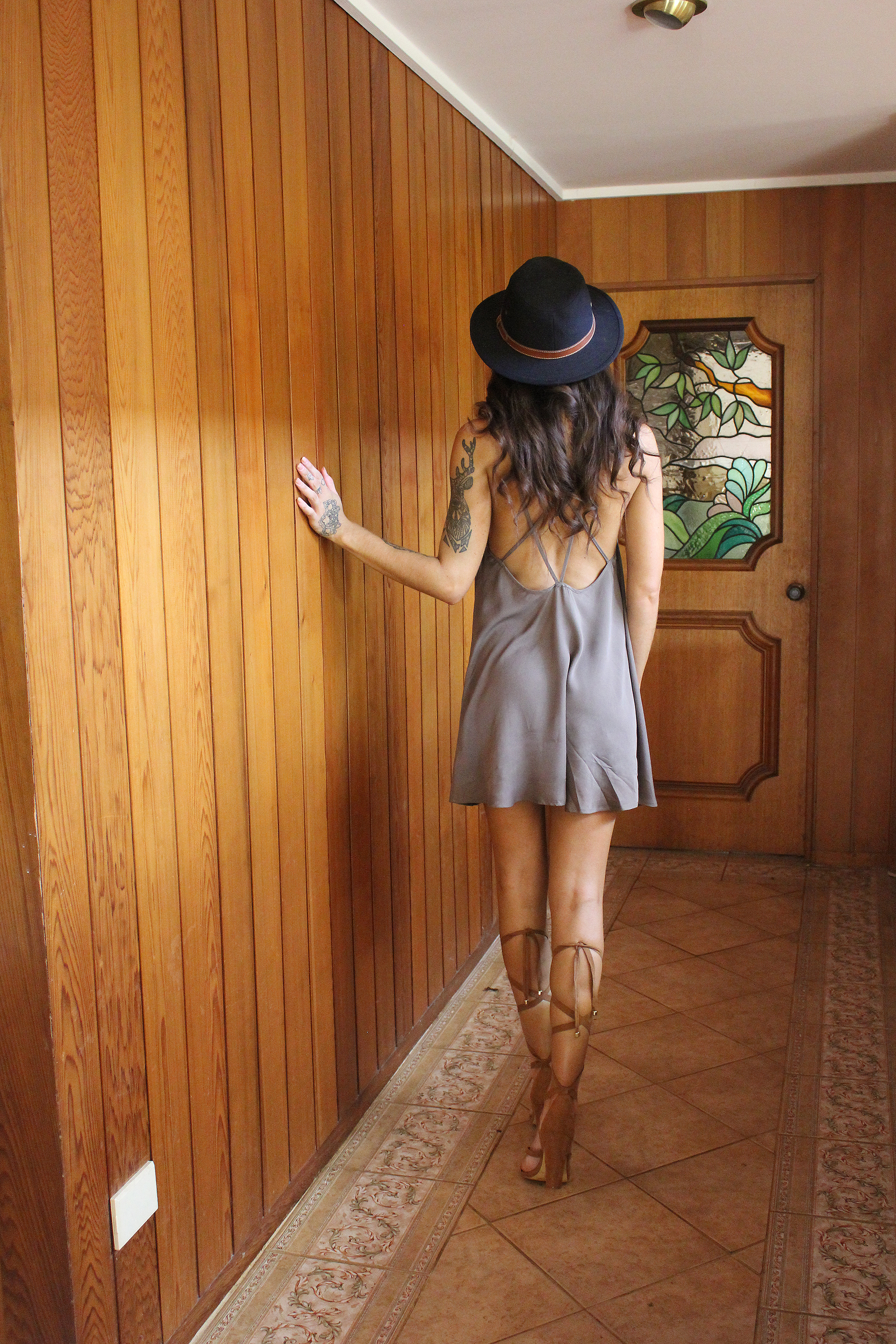 strappy dress and strappy heels | Kind of Lovely