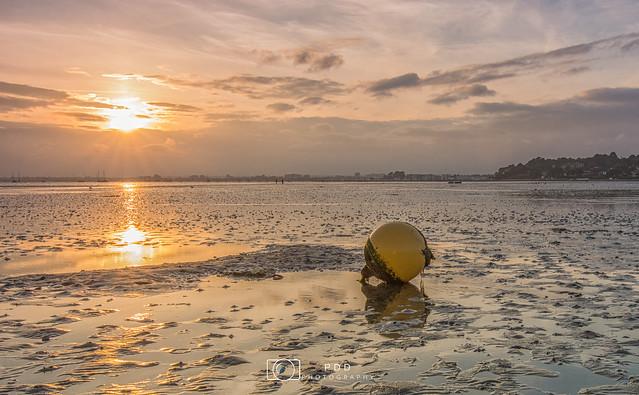 Sandbanks Sunset at low tide
