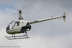 G-TGRC - 1991 build Robinson R22 Beta, inbound to Runway 26 at Barton