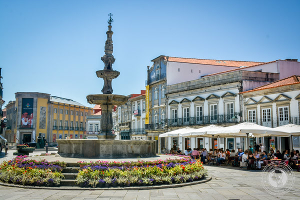 Plaza in Viana do Castelo Portugal