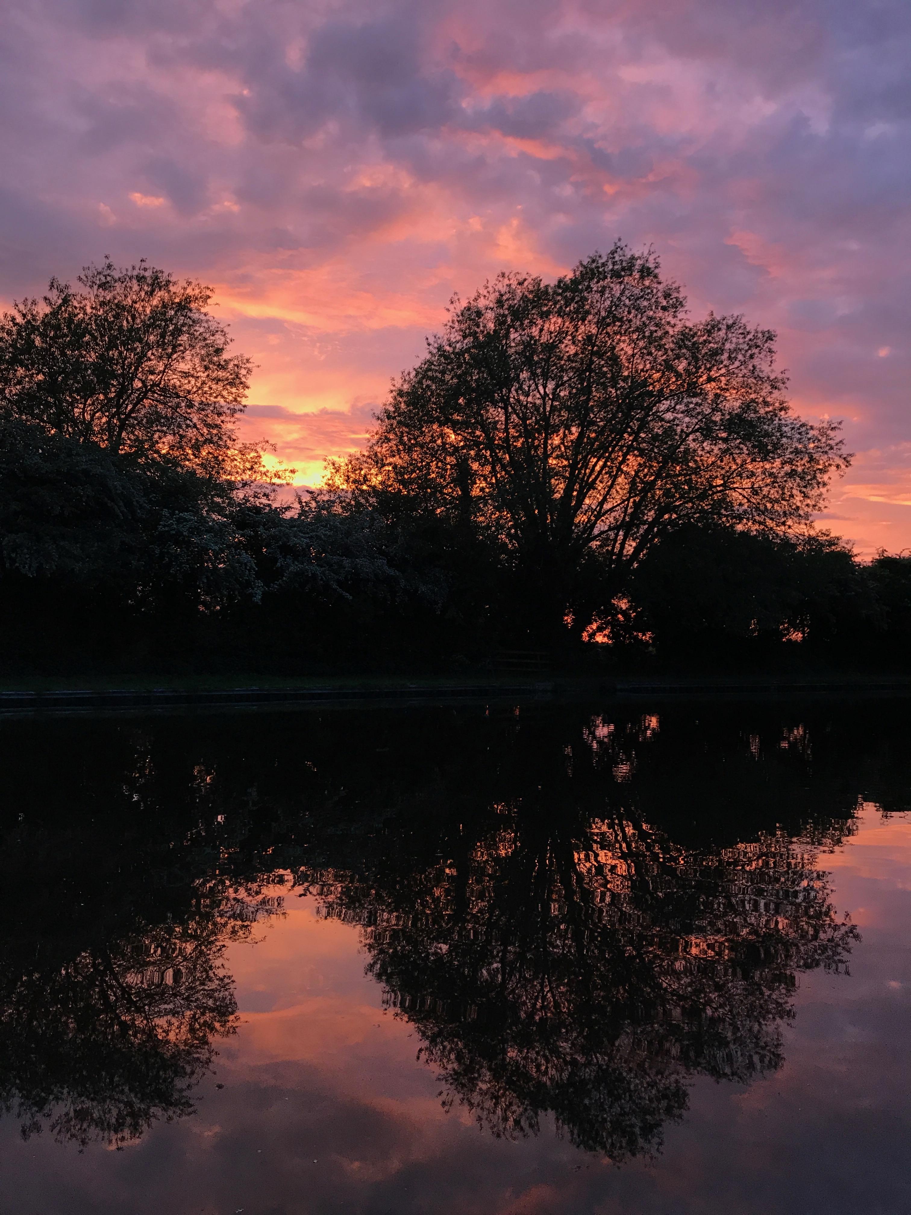Pastel sunset sky