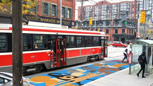 streetcar-safety-mural proposed, King Street Toronto