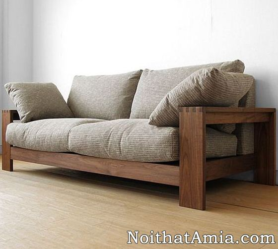 Hinh anh mau ghe go handmade duoc dong tai kho xuong dong sofa AmiA