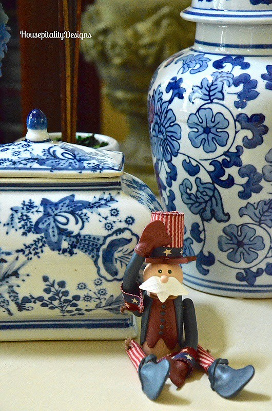 Blue and white-Uncle Sam-Housepitality Designs