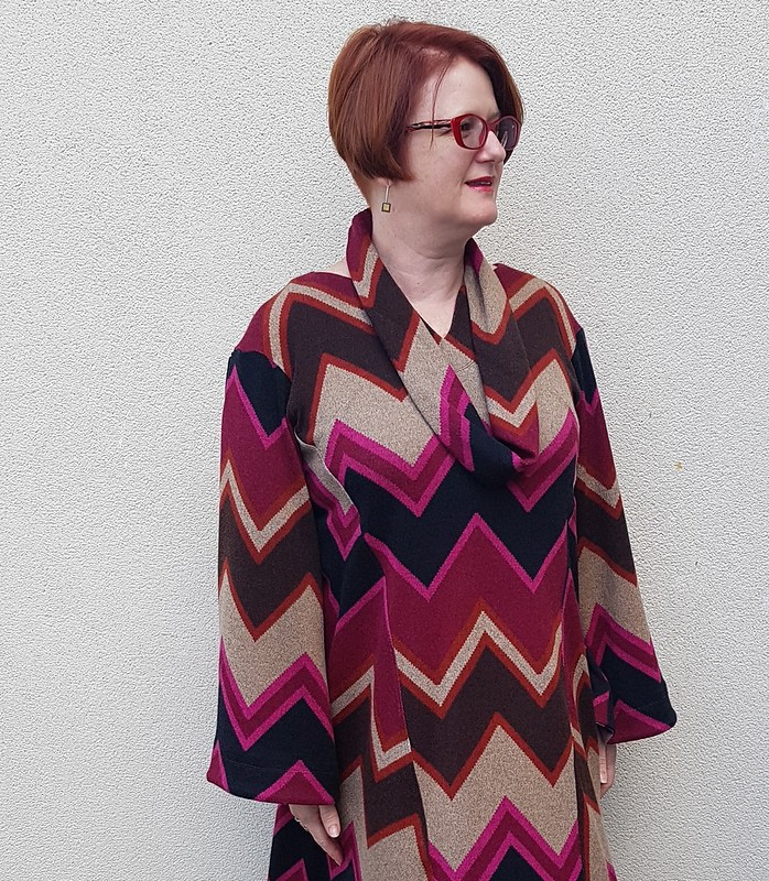 Hot Patterns Swingy Sweaterdress in knit from Darn Cheap Fabrics