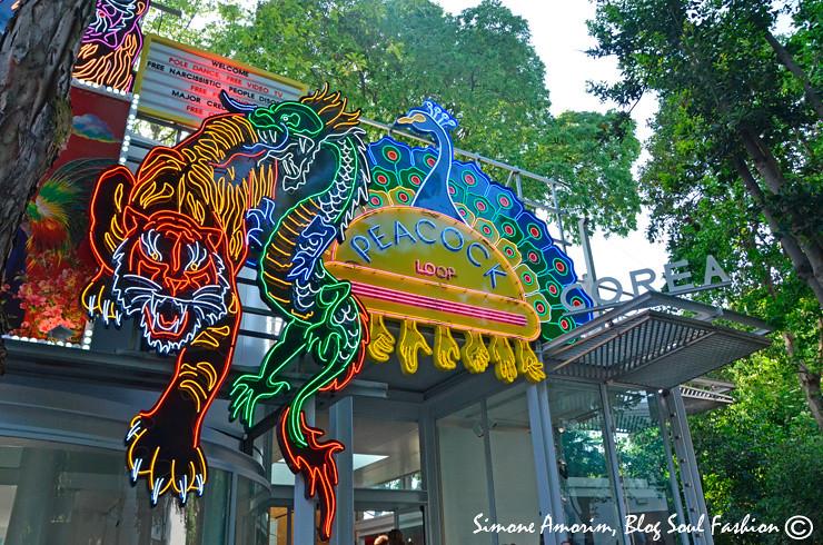 A linda entrada do pavilhão da Korea! Amei.