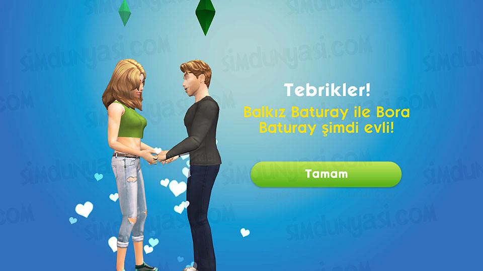The Sims Mobile Evlenmek - Düğün Serüveni - Sim'leriniz Artık Evli!