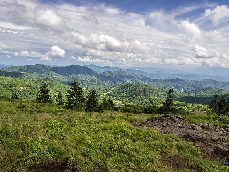 View of the Southern Appalachian Mountains from the Roan Highlands