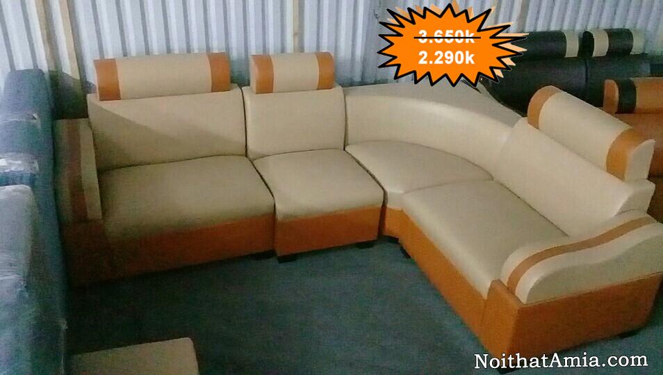 Mua ghe sofa goc dep gia re 3 trieu AmiA SFD084