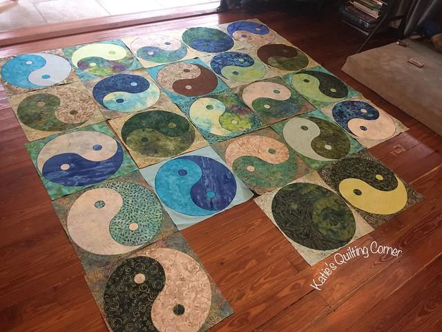 Yin yang quilt progress