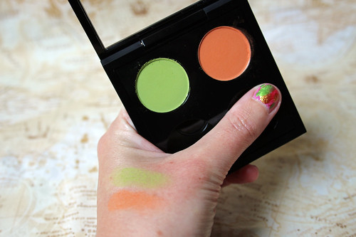 M.A.C, eye shadow in Lime and Rule
