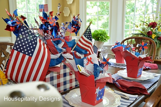 4th of July Tablescape-Red, White and Blue-Housepitality Designs