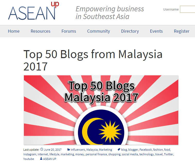 top 50 blogs in malaysia aseanup