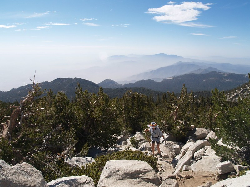 View south from the San Jacinto Peak summit