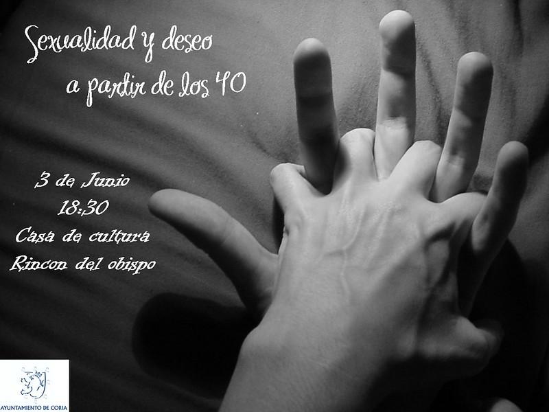 """Charla en Rincón del Obispo """"sexualidad y deseo a partir de los 40"""""""