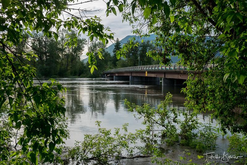Shuswap river. Enderby, BC