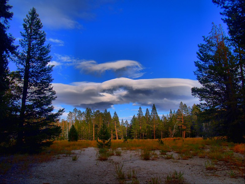 HDR shot of cool-looking clouds and late afternoon light in Round Valley