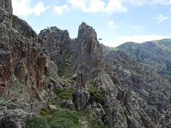 Brèche du couloir central du CornuDellu : le 3ème sommet et son collet