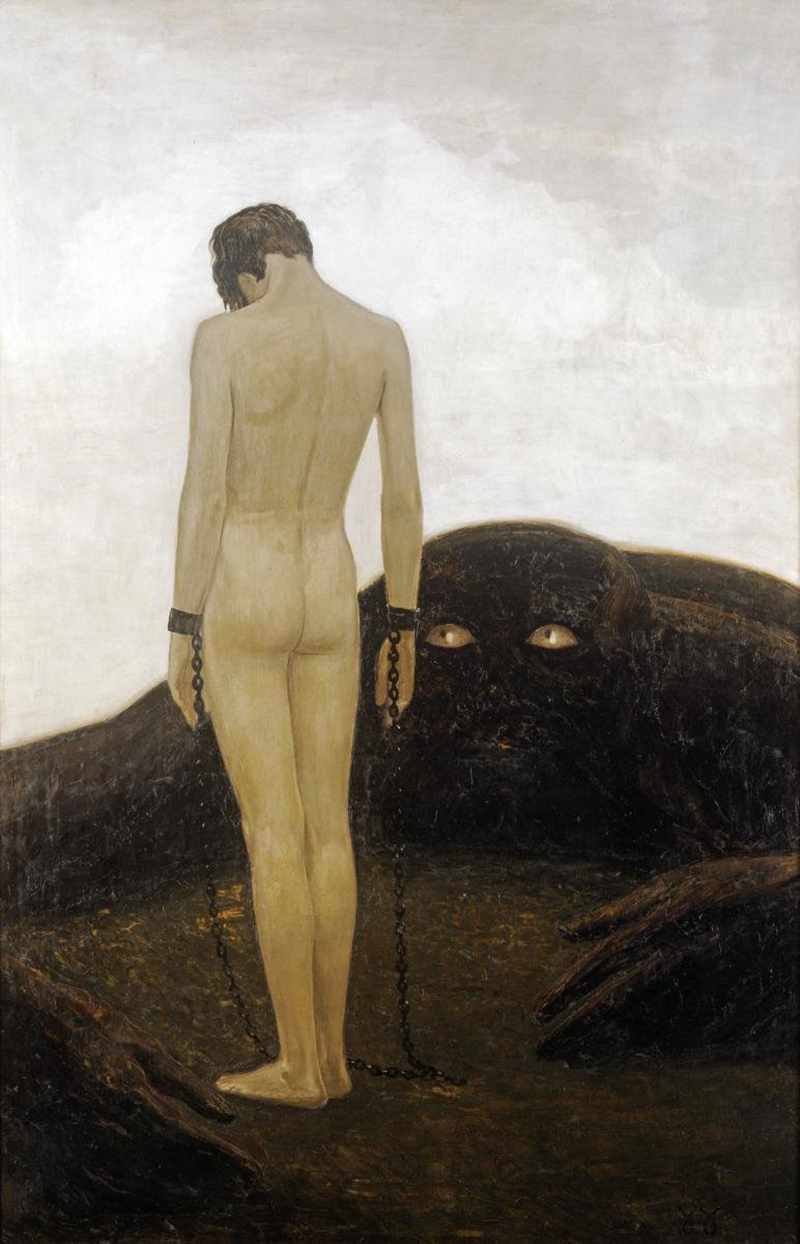 Sascha Schneider - A Feeling of Dependence, 1920 (version 1)