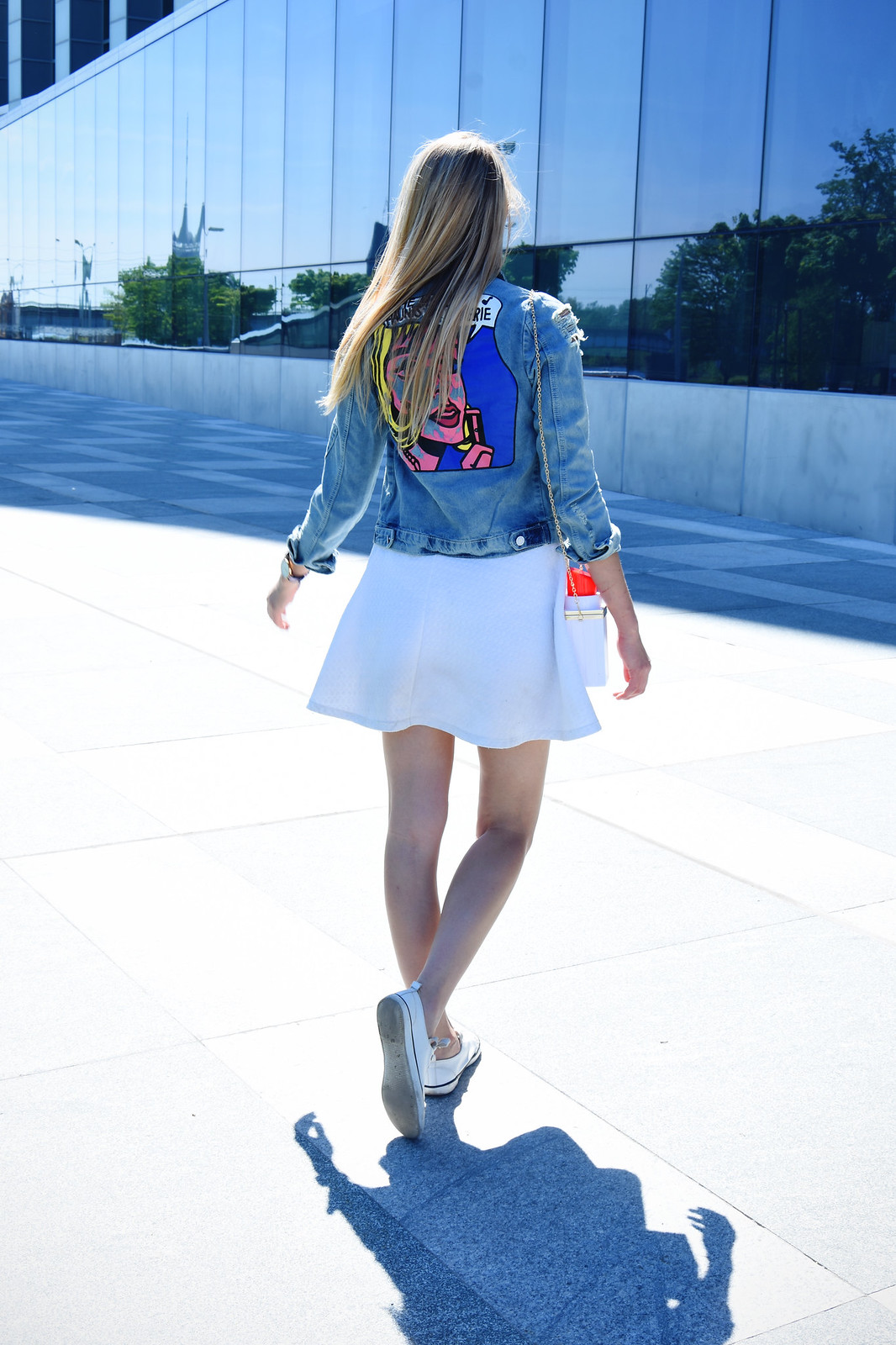 Pop art style denim jacket