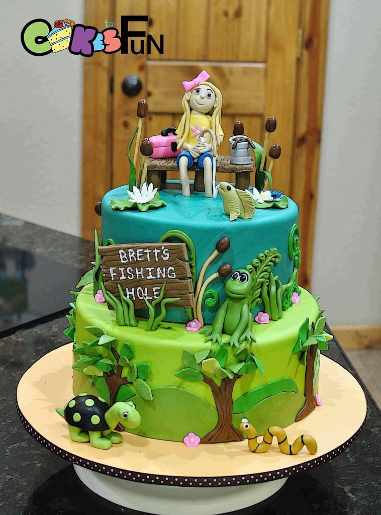 Gone Fishing Birthday Cake Bsheridan1959 Flickr
