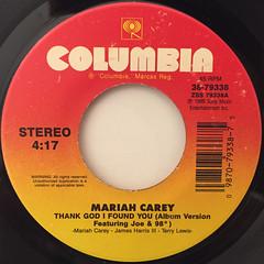 MARIAH CAREY:THANK GOD I FOUND YOU(LABEL SIDE-A)