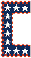 Preview of Cross Stitch Patterns: US Patriotic Border (Blue)