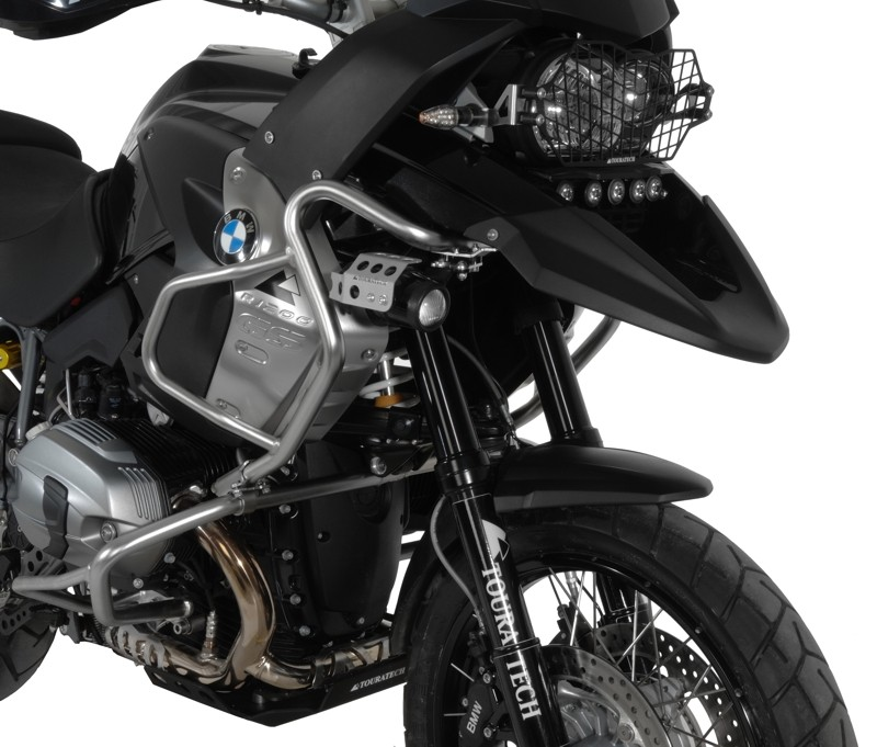 BMW R 1200 GS Stainless Steel Fairing Crash Bar and Black Anodized Aluminum Sump Guard