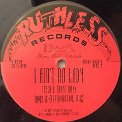 H.W.A.:I AIN'T NO LADY(LABEL SIDE-A)