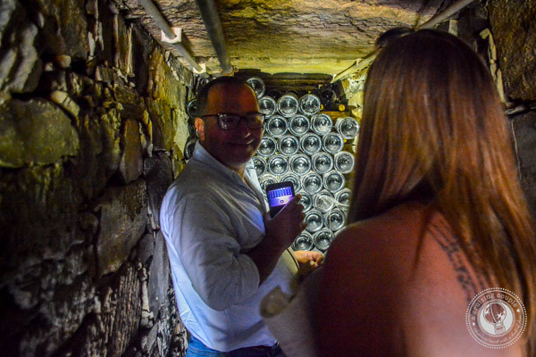 Underground Sparkling Wine Cellar in Douro Valley during Wine Tour with Jorge Barefoot Wine & Tours