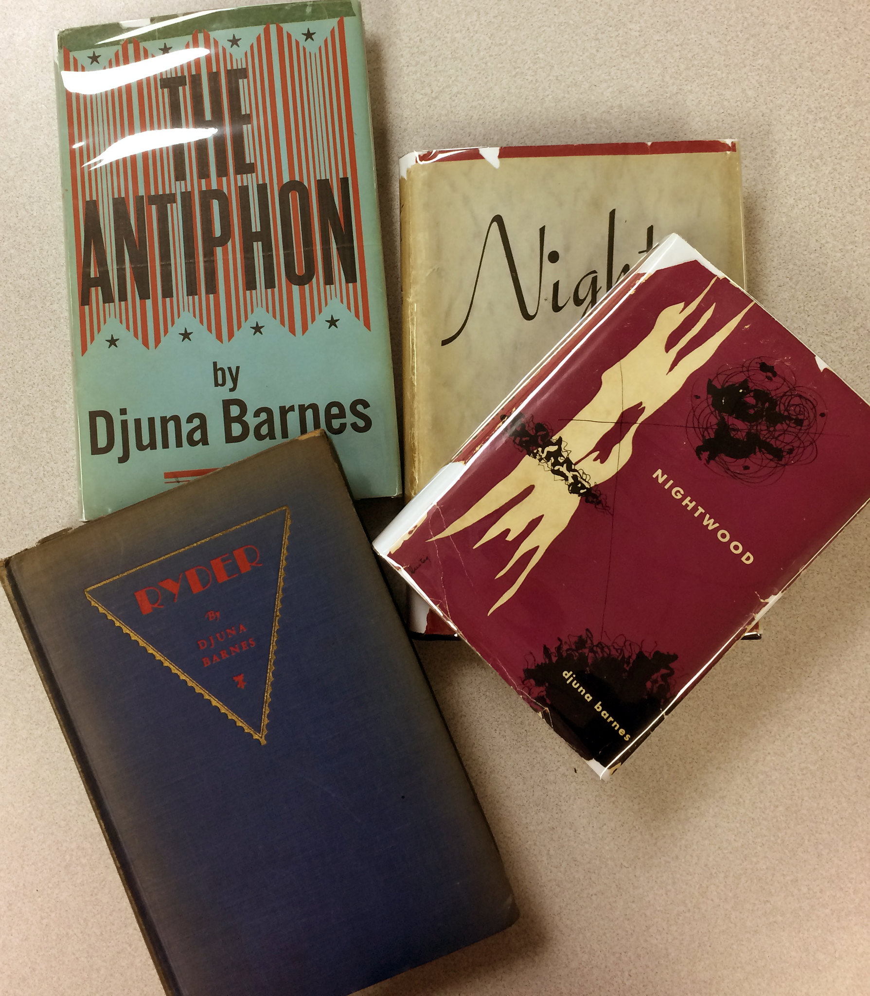 Djuna Barnes' The Antiphon, Nightwood, And Ryder From The Robert Giroux Book  Collection