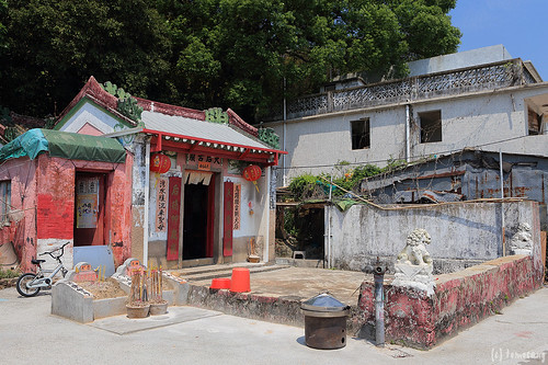 Tin Hau Temple in Ma Wan Main Street Village