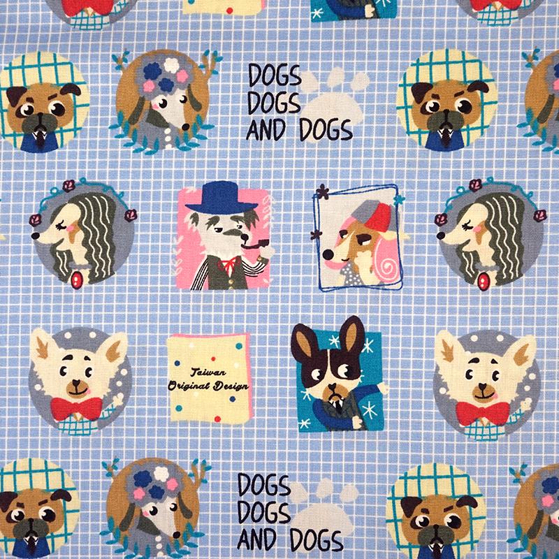 绅士狗 可爱宠物 动物 手工艺diy拼布布料ca450664