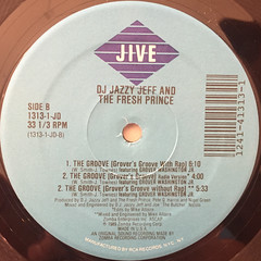 D.J. JAZZY JEFF AND THE FRESH PRINCE:THE GROOVE(JAZZY'S GROOVE)(LABEL SIDE-B)