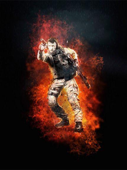 Combat Фотошоп экшен